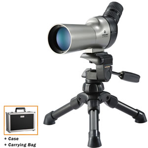 Vanguard High Plains Spotting Scope waterproof and fogproof 12-50x50 Angled w/table tripod, bag