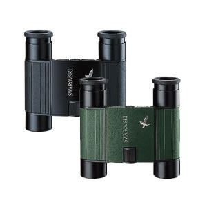 Swarovski 8 x 20B-P Pocket Binoculars Waterproof, Green with Turn-in Eyepiece