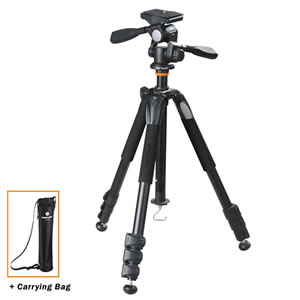 Vanguard Tripod Alta+ 264AP w/3-way pan head for Spotting Scope