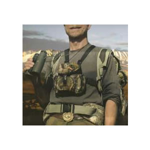 Alaska Guide Creations Binocular Chest Pack, Dark Olive Green