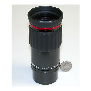 Astro-Tech 3.5mm 70 Degree field AF Series Eyepiece, with dual 1.25