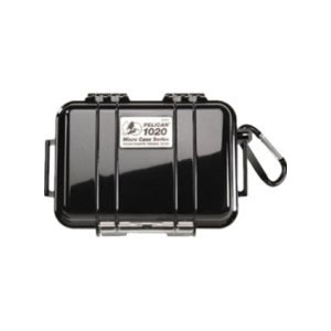 Pelican Micro Case 1020, Solid Black with Liner