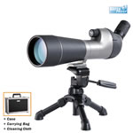 Vanguard High Plains spotting scope waterproof and fogproof 20-60x80 Angled w/table tripod, bag