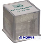 Konus Cover Slips for Slide Preparation (100-Pack)