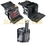 Pelican 0450 Case, Mobile Tool Chest with drawers, Black