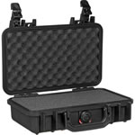 Pelican Hard Case with 3-piece Foam Set, Watertight, Dustproof, Ultra-High Impact Copolymer, Black