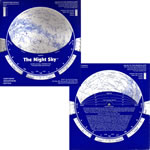 DAVID CHANDLER COMPANY THE NIGHT SKY PLANISPHERE--LARGE 30-40 DEGREES